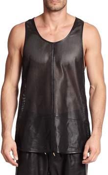 Giuseppe Zanotti Men's Zippered Leather Tank Top
