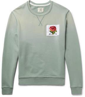 Kent & Curwen Appliquéd Loopback Cotton-Jersey Sweatshirt