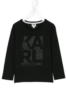 Karl Lagerfeld branded long-sleeved sweatshirt