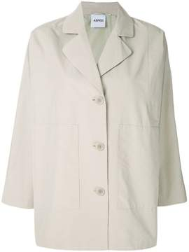Aspesi short button parka coat