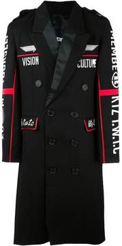 Kokon To Zai embroidered double breasted coat
