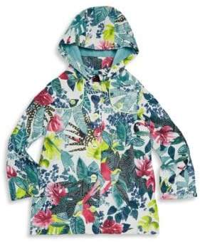 Catimini Little Girl's & Girl's Floral Hooded Windbreaker