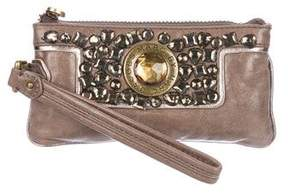 Marc by Marc Jacobs Embellished Leather Wristlet