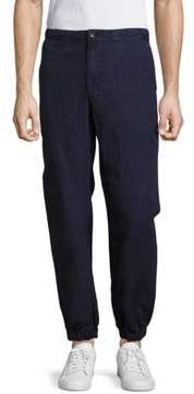 AG Adriano Goldschmied Linen-Blend Solid Pants