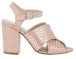 Elena Iachi Women's Pink Leather Sandals.
