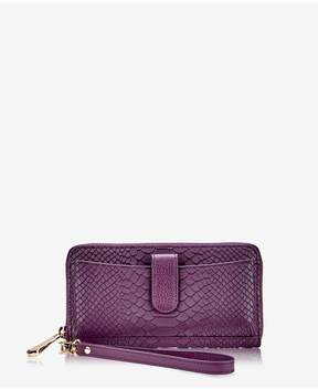 GiGi New York City Wallet In Acai Embossed Python