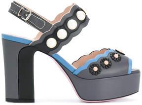 Fendi embellished sling-back sandals
