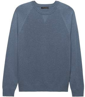 Banana Republic Premium Cotton Cashmere Crew-Neck Raglan Sweater