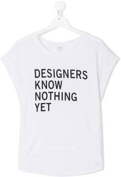 DKNY TEEN slogan-print T-shirt