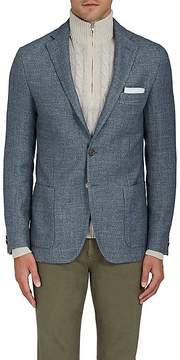 Loro Piana Men's Basket-Weave Wool-Blend Two-Button Sportcoat