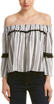 Flying Tomato Off-The-Shoulder Blouse
