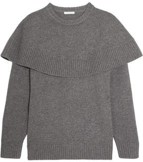 Chloé Oversized Layered Cashmere Sweater - Gray