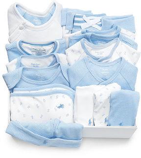 Ralph Lauren Baby Boy Cotton 16-Piece Gift Set