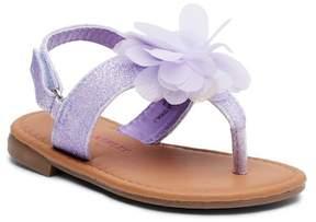 Laura Ashley Floral Glitter Sandal (Toddler)