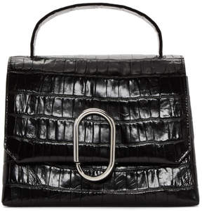 3.1 Phillip Lim Black Croc Alix Top Handle Satchel