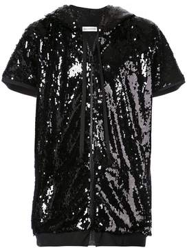 Faith Connexion sequin embellished shortsleeved hoodie