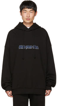 Juun.J Black Oversized Hide Your Lies Hoodie