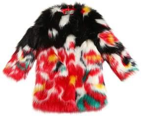 Ermanno Scervino Printed Faux Fur Coat