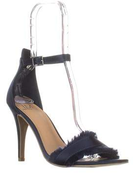 Material Girl Mg35 Biance Open Toe Buckle Heels, Navy.