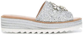 Sebastian embellished glitter sandals