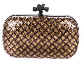 Bottega Veneta Sequin-Embellished Knot Clutch