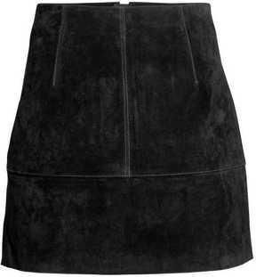 H&M Short Suede Skirt