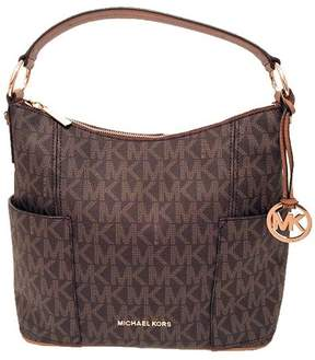 Michael Kors Anita Large Convertible Shoulder Bag (Brown) - BROWN - STYLE