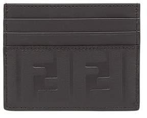 Fendi Men's Black Leather Card Holder.