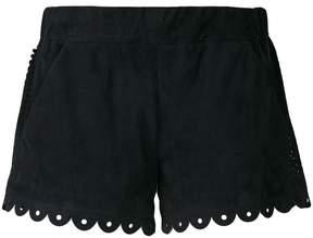 Drome scalloped laser cut shorts