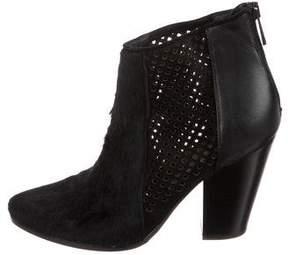Diane von Furstenberg Ponyhair Ankle Boots