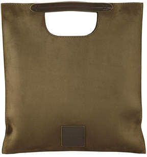 Neiman Marcus Faux-Suede Clutch Bag