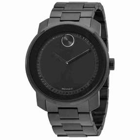 Movado Bold Black Dial Stainless Steel Men's Watch 3600471