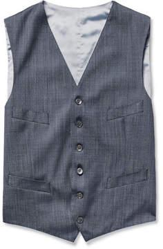 Richard James Blue Wool And Silk-Blend Waistcoat