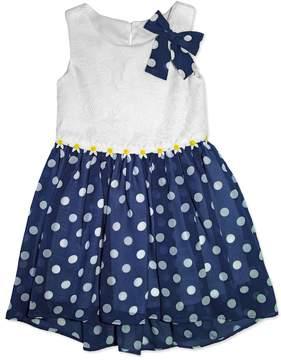Nannette Girls 4-6x Nanette Dot Chiffon Dress