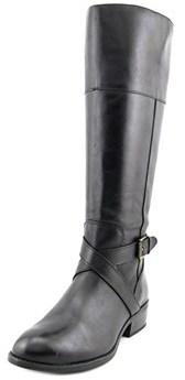 Lauren Ralph Lauren Mariah Wide Calf Women Leather Black Knee High Boot.