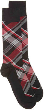 Cole Haan Plaid Dress Socks - Men's