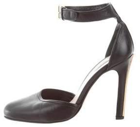 Miu Miu Leather Ankle-Strap Pumps