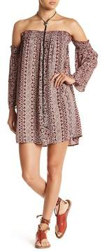 Angie Off Shoulder Printed Dress