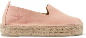 Manebi Hamptons Suede Espadrilles - Antique rose