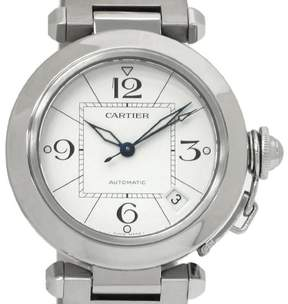 Cartier Pasha C W31074M7 Stainless Steel Automatic 35mm Mens Watch