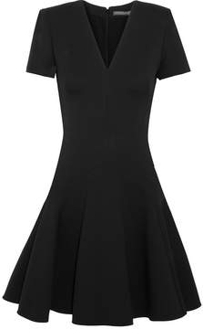 Alexander McQueen Leaf Crepe Mini Dress - Black