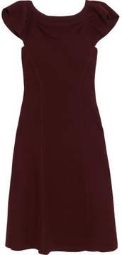 Bottega Veneta Ruffled Wool-crepe Dress - Merlot