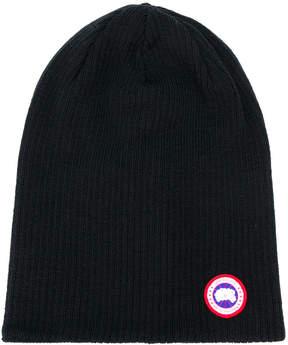 Canada Goose logo patch beanie