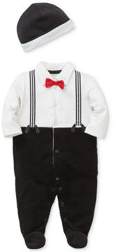 Little Me 2-Pc. Hat & Suspenders Footed Coverall Set, Baby Boys (0-24 months)