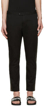 Palm Angels Black Slim Side Stripe Trousers