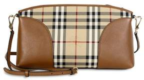 Burberry Horseferry Check and Leather Clutch - Honey/Tan - ONE COLOR - STYLE