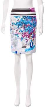 Clover Canyon Printed Neoprene Skirt