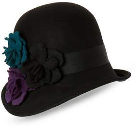 Scala Floral Asymmetrical Cloche Hat