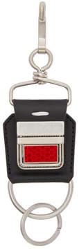 Maison Margiela Black Buckle Keychain