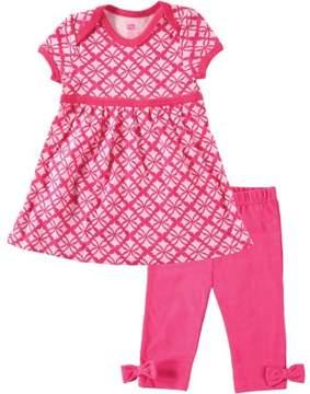 Hudson Baby Baby Girls' Dress and Leggings